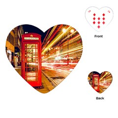 Telephone Box London Night Playing Cards (heart)
