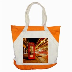 Telephone Box London Night Accent Tote Bag