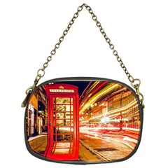 Telephone Box London Night Chain Purses (one Side)