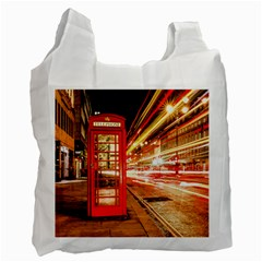 Telephone Box London Night Recycle Bag (one Side)