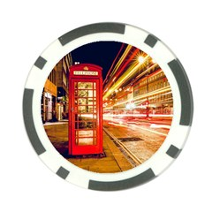 Telephone Box London Night Poker Chip Card Guard (10 Pack)