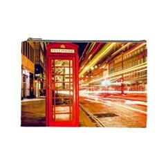 Telephone Box London Night Cosmetic Bag (Large)