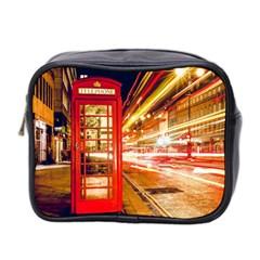 Telephone Box London Night Mini Toiletries Bag 2 Side