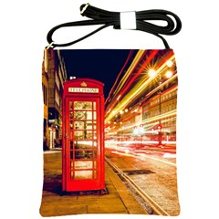 Telephone Box London Night Shoulder Sling Bags