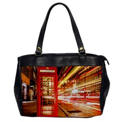 Telephone Box London Night Office Handbags