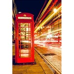 Telephone Box London Night 5.5  x 8.5  Notebooks Back Cover