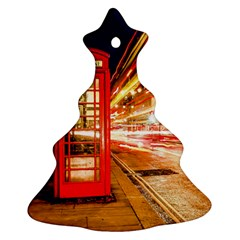 Telephone Box London Night Christmas Tree Ornament (two Sides)