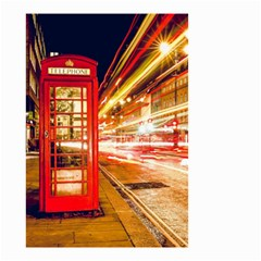 Telephone Box London Night Small Garden Flag (two Sides)