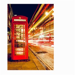 Telephone Box London Night Large Garden Flag (two Sides)