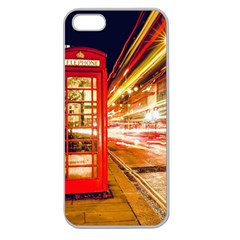 Telephone Box London Night Apple Seamless Iphone 5 Case (clear)