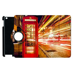 Telephone Box London Night Apple Ipad 2 Flip 360 Case
