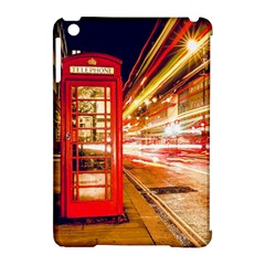 Telephone Box London Night Apple Ipad Mini Hardshell Case (compatible With Smart Cover)
