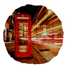 Telephone Box London Night Large 18  Premium Round Cushions