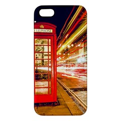 Telephone Box London Night Apple iPhone 5 Premium Hardshell Case