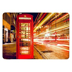 Telephone Box London Night Samsung Galaxy Tab 8 9  P7300 Flip Case