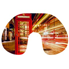 Telephone Box London Night Travel Neck Pillows