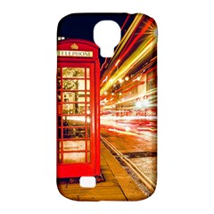Telephone Box London Night Samsung Galaxy S4 Classic Hardshell Case (pc+silicone)