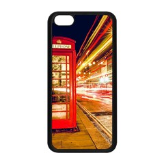 Telephone Box London Night Apple Iphone 5c Seamless Case (black)