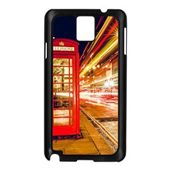 Telephone Box London Night Samsung Galaxy Note 3 N9005 Case (black)