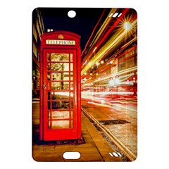 Telephone Box London Night Amazon Kindle Fire Hd (2013) Hardshell Case