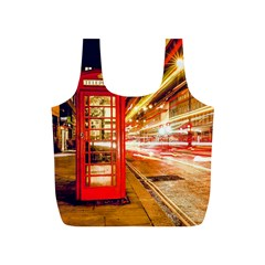 Telephone Box London Night Full Print Recycle Bags (s)