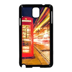 Telephone Box London Night Samsung Galaxy Note 3 Neo Hardshell Case (black)
