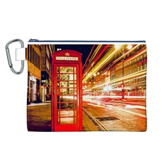 Telephone Box London Night Canvas Cosmetic Bag (l)