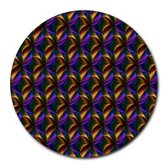 Seamless Prismatic Line Art Pattern Round Mousepads