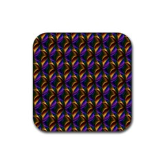 Seamless Prismatic Line Art Pattern Rubber Square Coaster (4 pack)