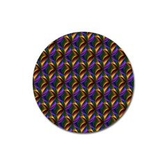 Seamless Prismatic Line Art Pattern Magnet 3  (Round)