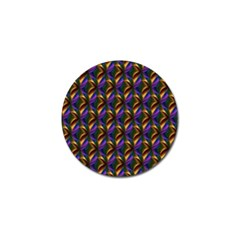 Seamless Prismatic Line Art Pattern Golf Ball Marker (4 pack)