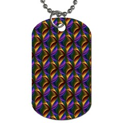 Seamless Prismatic Line Art Pattern Dog Tag (Two Sides)