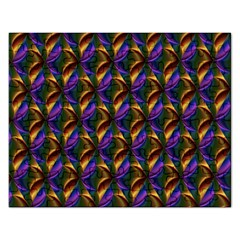 Seamless Prismatic Line Art Pattern Rectangular Jigsaw Puzzl