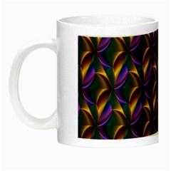 Seamless Prismatic Line Art Pattern Night Luminous Mugs