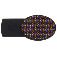Seamless Prismatic Line Art Pattern Usb Flash Drive Oval (4 Gb)