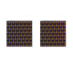 Seamless Prismatic Line Art Pattern Cufflinks (Square)