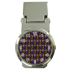 Seamless Prismatic Line Art Pattern Money Clip Watches