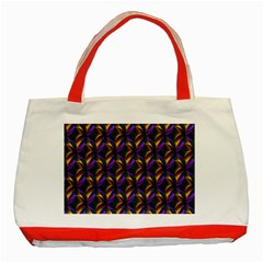 Seamless Prismatic Line Art Pattern Classic Tote Bag (red)