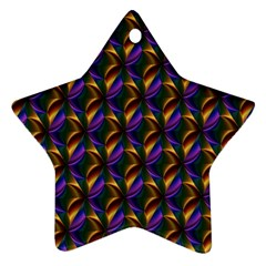 Seamless Prismatic Line Art Pattern Star Ornament (Two Sides)