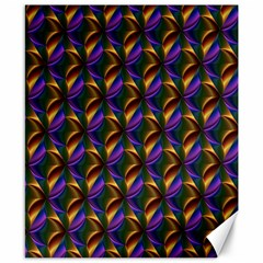 Seamless Prismatic Line Art Pattern Canvas 8  X 10
