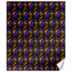 Seamless Prismatic Line Art Pattern Canvas 20  X 24