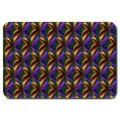 Seamless Prismatic Line Art Pattern Large Doormat