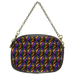 Seamless Prismatic Line Art Pattern Chain Purses (two Sides)