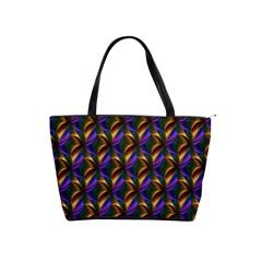 Seamless Prismatic Line Art Pattern Shoulder Handbags
