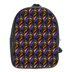 Seamless Prismatic Line Art Pattern School Bags(large)