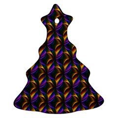 Seamless Prismatic Line Art Pattern Christmas Tree Ornament (two Sides)