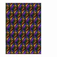 Seamless Prismatic Line Art Pattern Small Garden Flag (two Sides)
