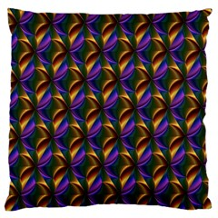 Seamless Prismatic Line Art Pattern Large Cushion Case (one Side)