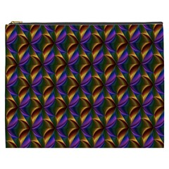 Seamless Prismatic Line Art Pattern Cosmetic Bag (xxxl)