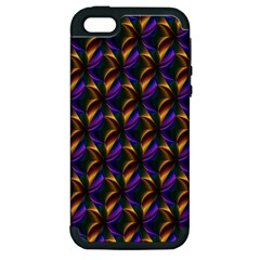 Seamless Prismatic Line Art Pattern Apple Iphone 5 Hardshell Case (pc+silicone)